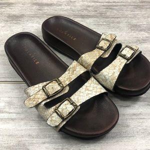 VOLATILE slip on reptile print sandal